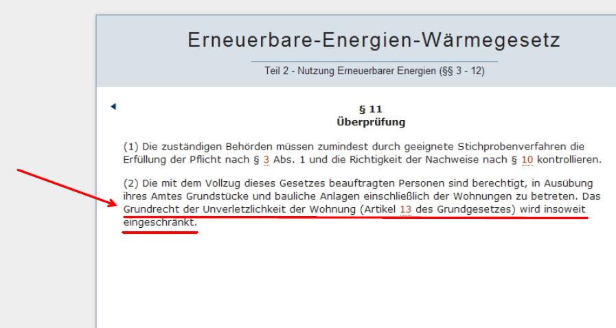 EEWaermeG_Paragr11_Artikel13GG