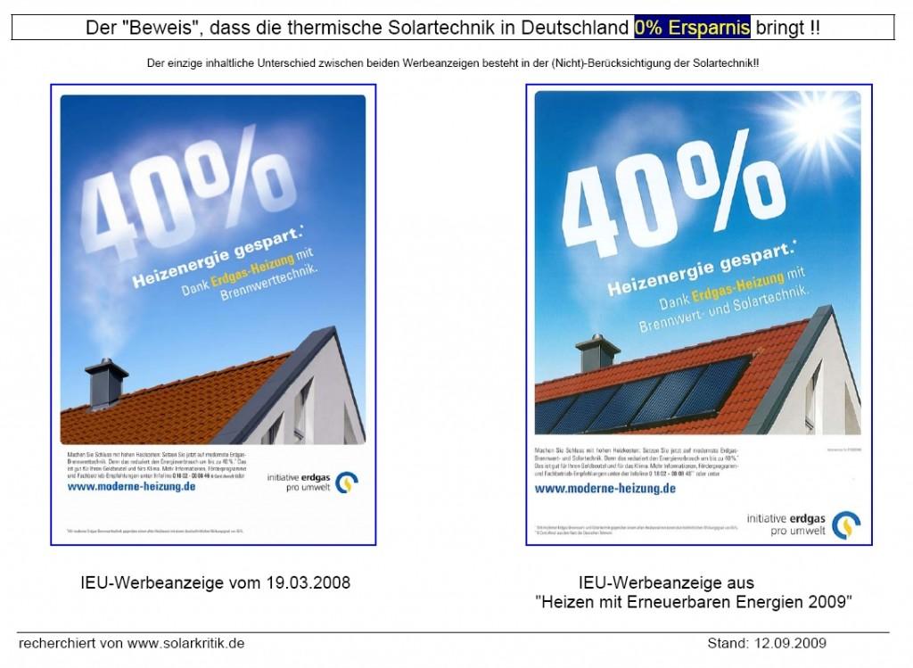 Der eigentliche Beweis: Solartechnik bringt NULL-Ersparnis
