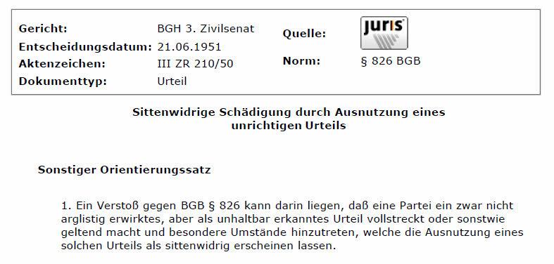 BGH1951_III_ZR_210_50