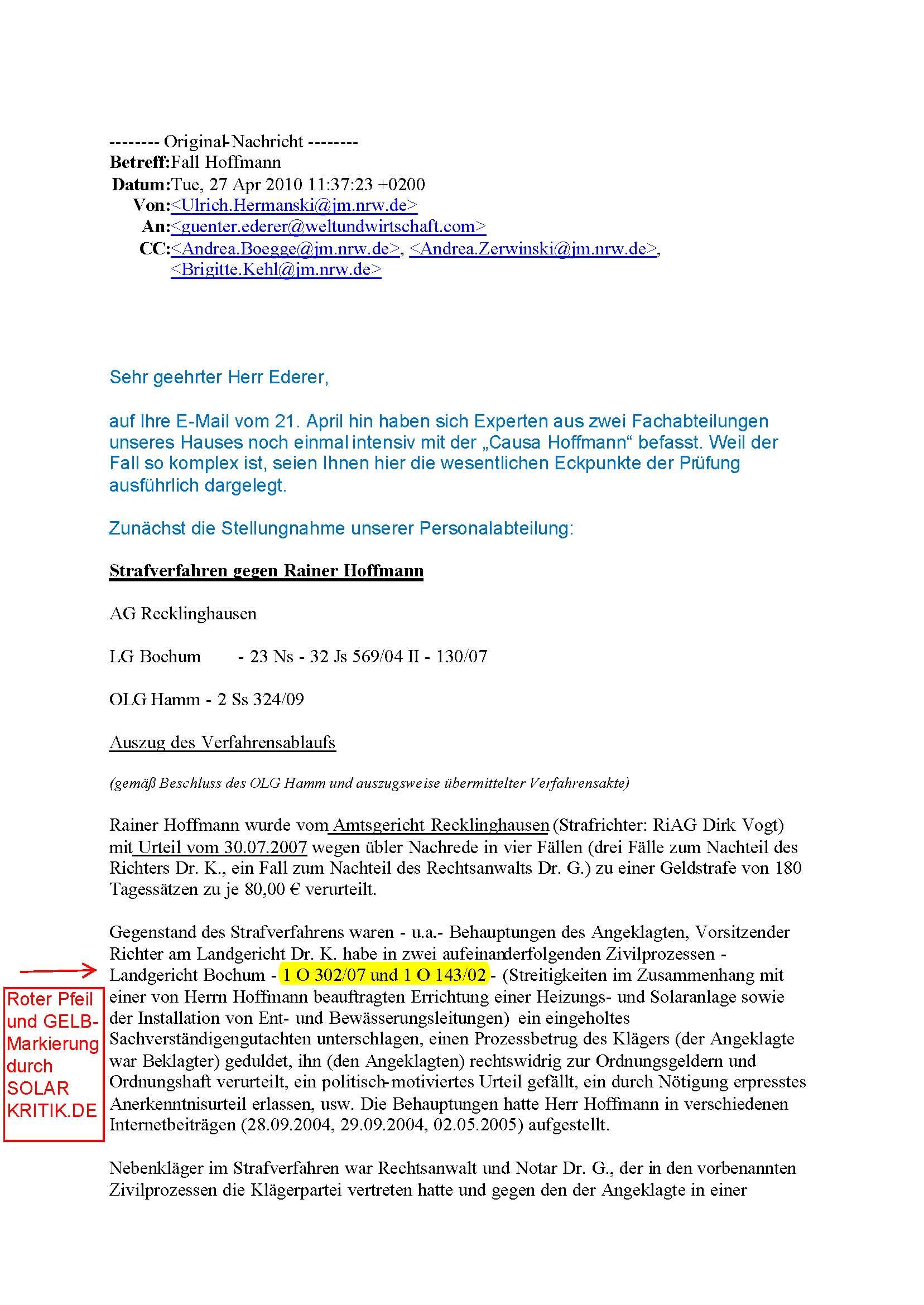 das nrw justizministerium - Ble Nachrede Beispiele