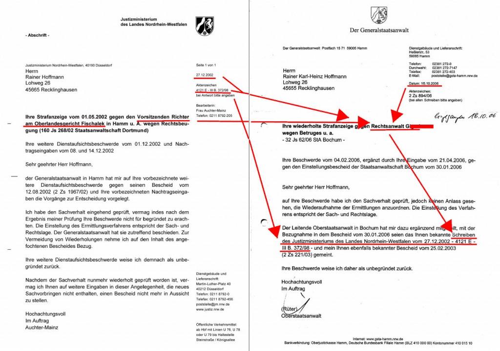 NRWJustizMin_20021227_GeneSTHamm20061016_DrG_Straffreiheit_RotMark