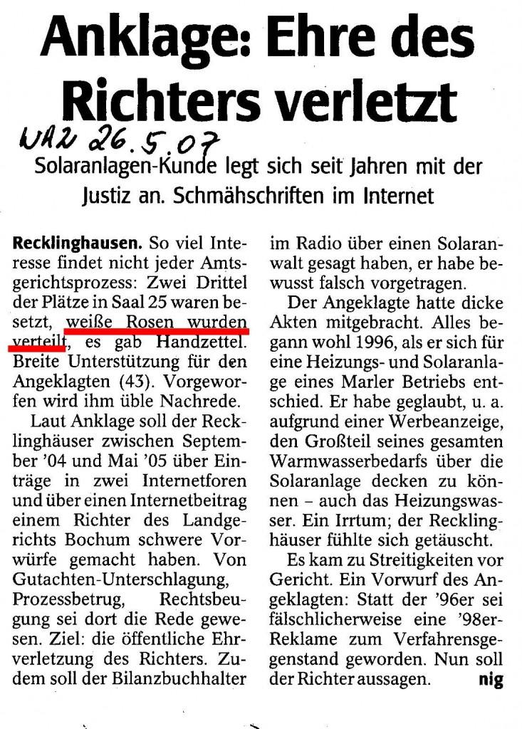 20070526_WAZ_Solarklage_WeisseRose_RotMark