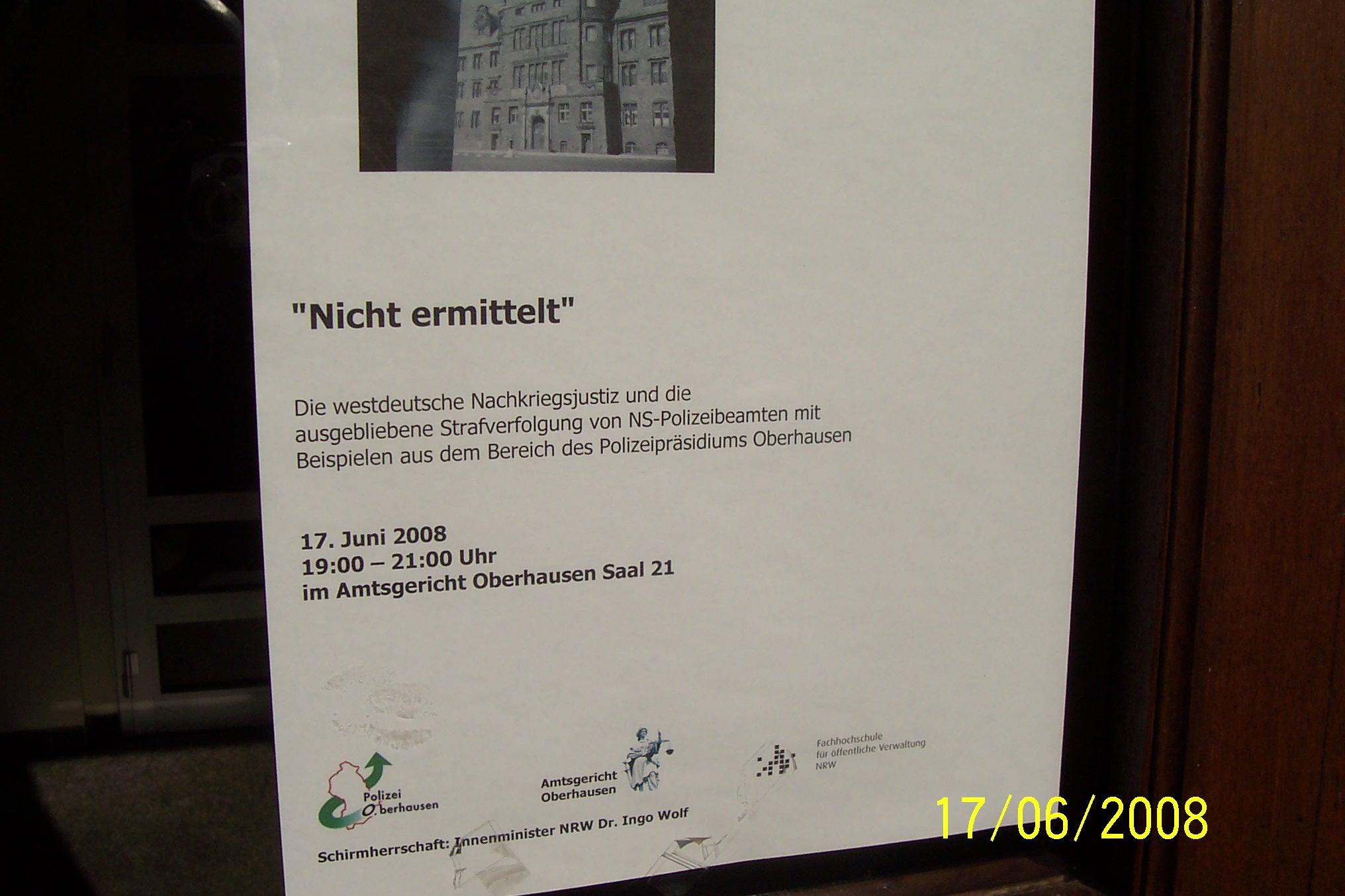 Amtsgericht Oberhausen, 100Jahr-Feier