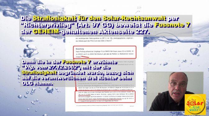 Psychiatrisierung und Geheimakte: Wie die NRW-Justiz den solaren 60%-Schwindel vertuscht !!