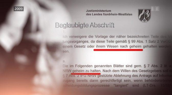 Asyl abgelehnt: Schweizer Bundesverwaltungsrichter verschweigen die Existenz von 198 geheimen Aktenseiten beim NRW-Justizministerium als Hauptasylgrund !!